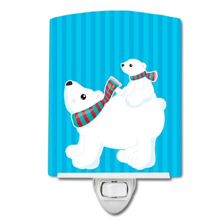 - Polar Bears #6 Ceramic Night Light
