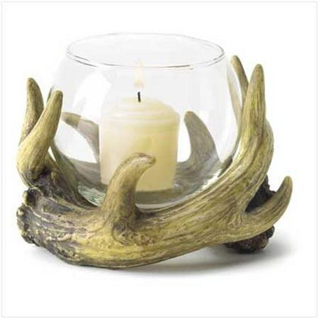 C. Alan 38444 Rustic Antler Candleholder