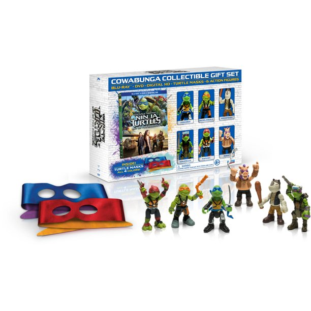 Teenage Mutant Ninja Turtles: Out Of The Shadows (Cowabunga Collection Giftset) (Blu-ray + DVD + Digital HD + Action Figures) (Walmart Exclusive)
