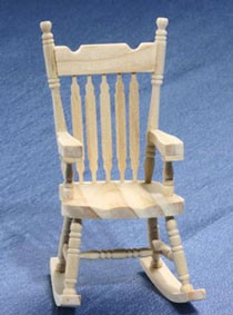 Charmant Dollhouse Unfinished Rocking Chair