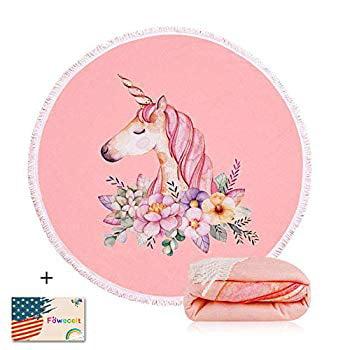 Details about  /3D Cute Unicorn NAO279 Summer Plush Fleece Blanket Picnic Beach Towel Dry Fay