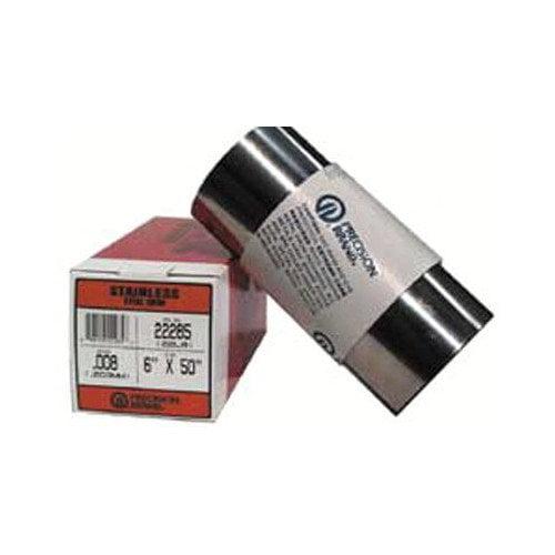Precision Brand Stainless Steel Shim Stock Rolls - 22l4   .004 ss shimstock 6''x50