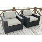 Nevis Deep Seating Club Chairs, 2pk