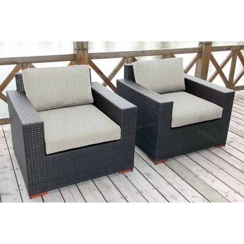 Nevis Deep Seating Club Chairs, 2pk