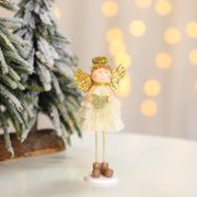 Siaonvr Christmas Decoration Cute Angel Doll Desktop Decoration Children's Room Decor
