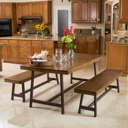 Noble House Mason 3 Piece Wood Dining Set Creek House 2 Piece