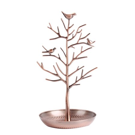 Cute Display Jewelry Organizer Show Rack Necklace Earring Bracelet Ring Ornament Bird Tree Stand Holder Earring Tree Box