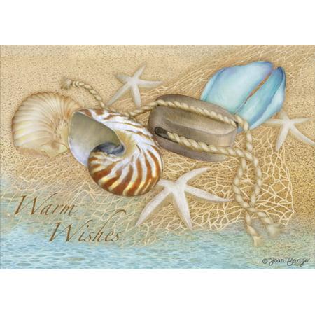 LPG Greetings Sea Treasures: Joan Beiriger Tropical Beach Christmas Card