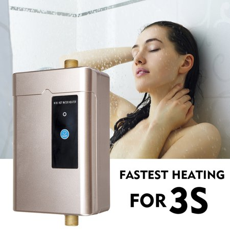 3000W 110V Electric Water Heater Mini Tankless Instant Hot