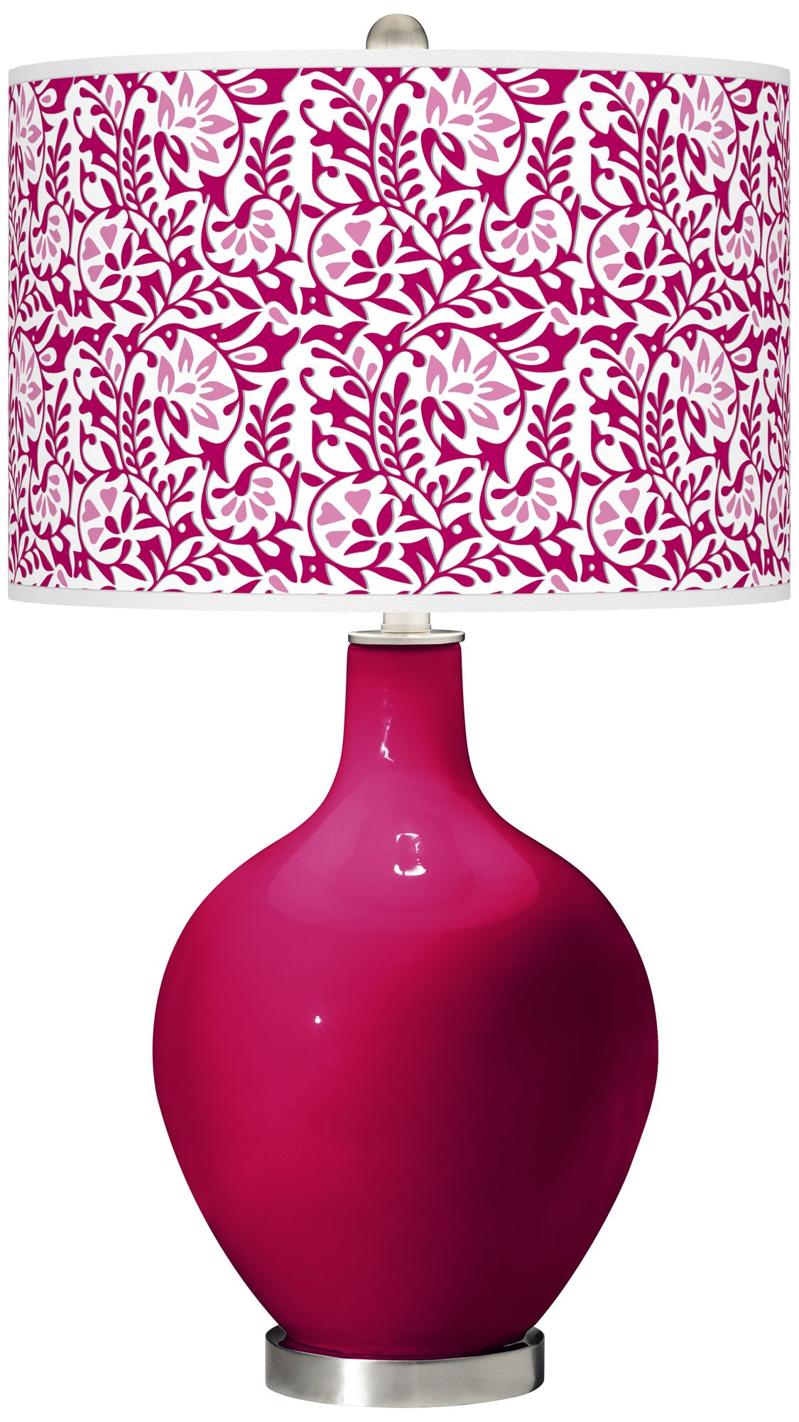 Color Plus French Burgundy Gardenia Ovo Table Lamp