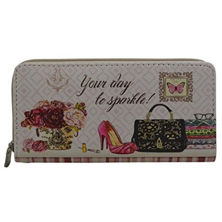 Dreams Wallet Mini Clutch with City Print / Chick / Lips on Faux Leather Material (CHICK)