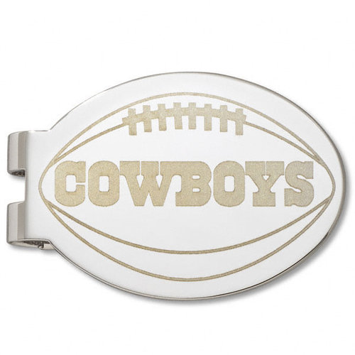 NFL - Dallas Cowboys Silver Plated Laser Engraved Money Clip