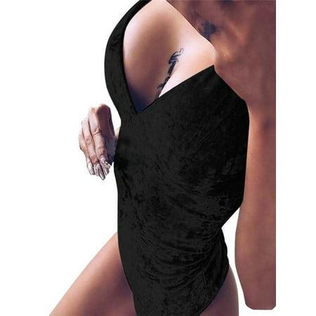 Stretch V-neck Camisole - Womail Womens Sleeveless Top V Neck Bodysuit Leotard Camisole Vest Stretch Strappy