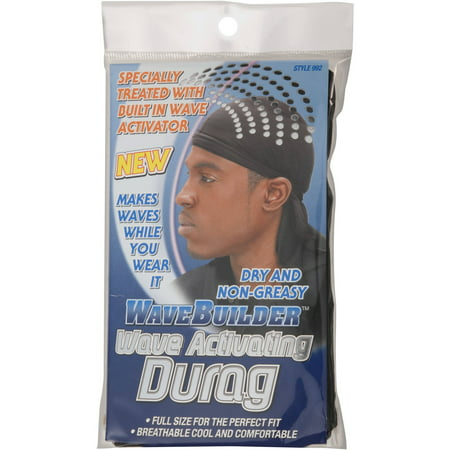 Wave Builder Wave Activating Durag, Black