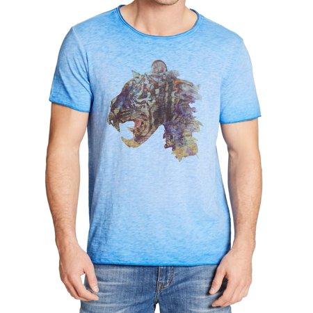 William Rast NEW Blue Mens Size Medium M Tiger Graphic Tee Shirt