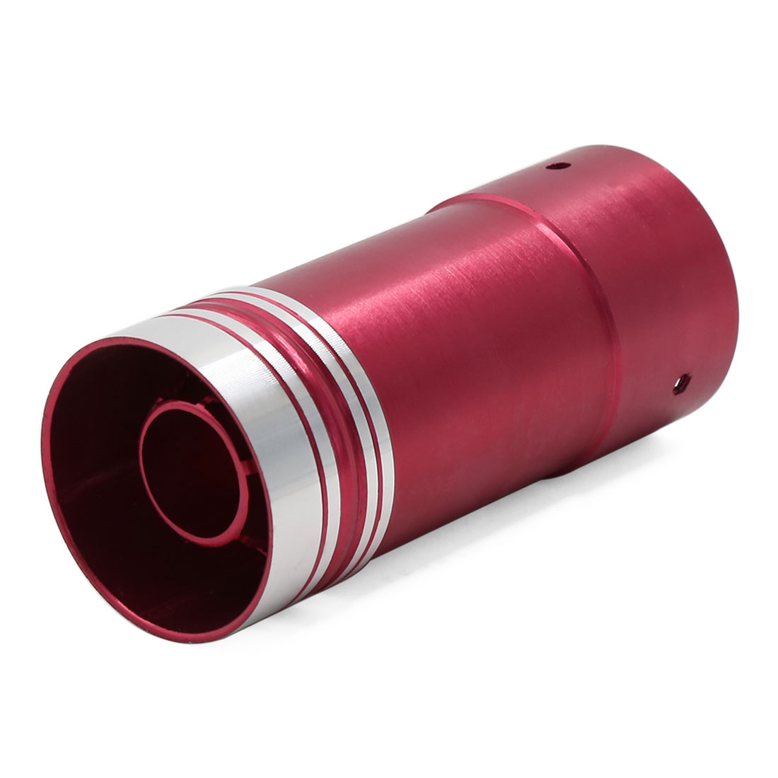Unique Bargains Universal Red Aluminum Straight Round Tip Car Exhaust Pipe Muffler Silencer