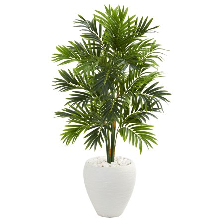 Artificial Areca Palm Tree (Nearly Natural 4' Areca Artificial Palm Tree in White)