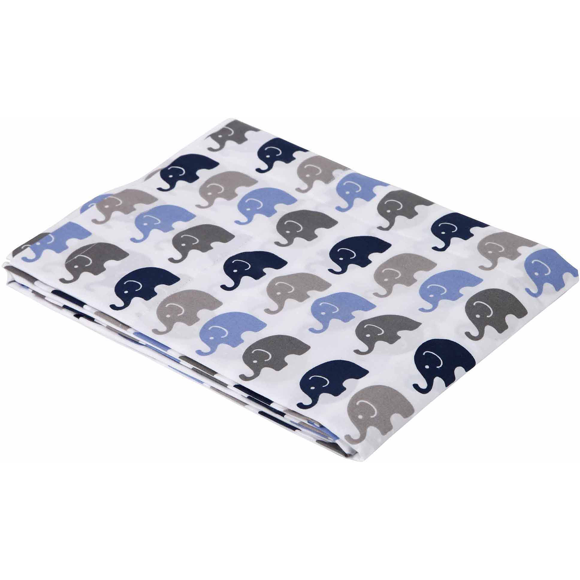 Bacati - Mini Elephants Fitted Crib Sheets 100% Cotton Percale,  Available in Multiple Colors