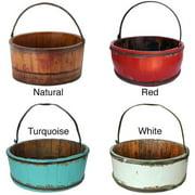 Antique Revival Wooden Vintage Kitchen Bucket