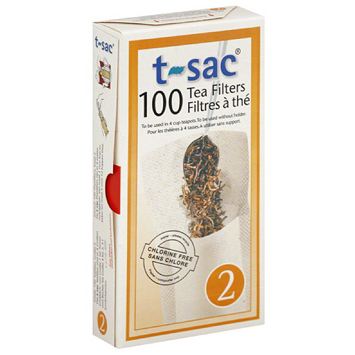 T-Sac Tea Filters, Size 2, 100 count, (Pack of 6) - Walmart.com
