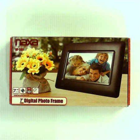 Refurbished NAXA Electronics NF-501 7-Inch Class LCD Digital Photo Frame with LED Backlight 400 x 240 (Black) (Naxa Digital Photo Frame)