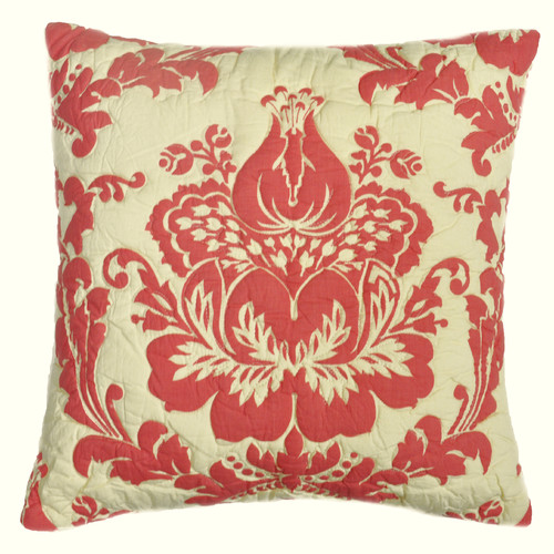 Amity Home Damask Cotton Throw Pillow