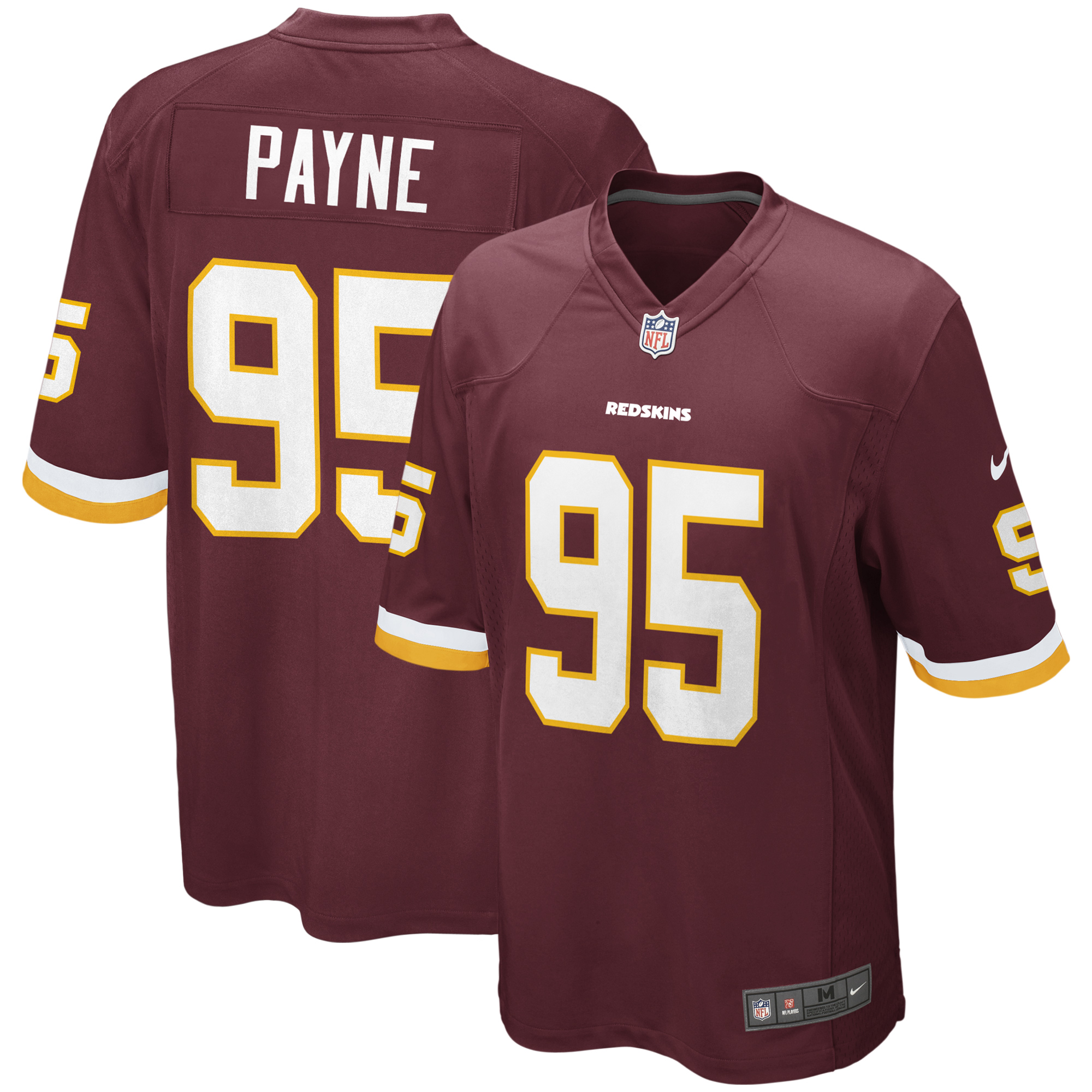 DaRon Payne Washington Redskins Nike Game Jersey - Burgundy
