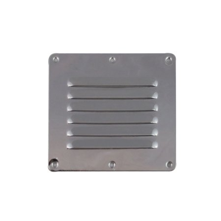 Stamped Aluminum 4 Louver (White Water 7722S Marine Boat Stainless Stamped Louvered Vent, 5