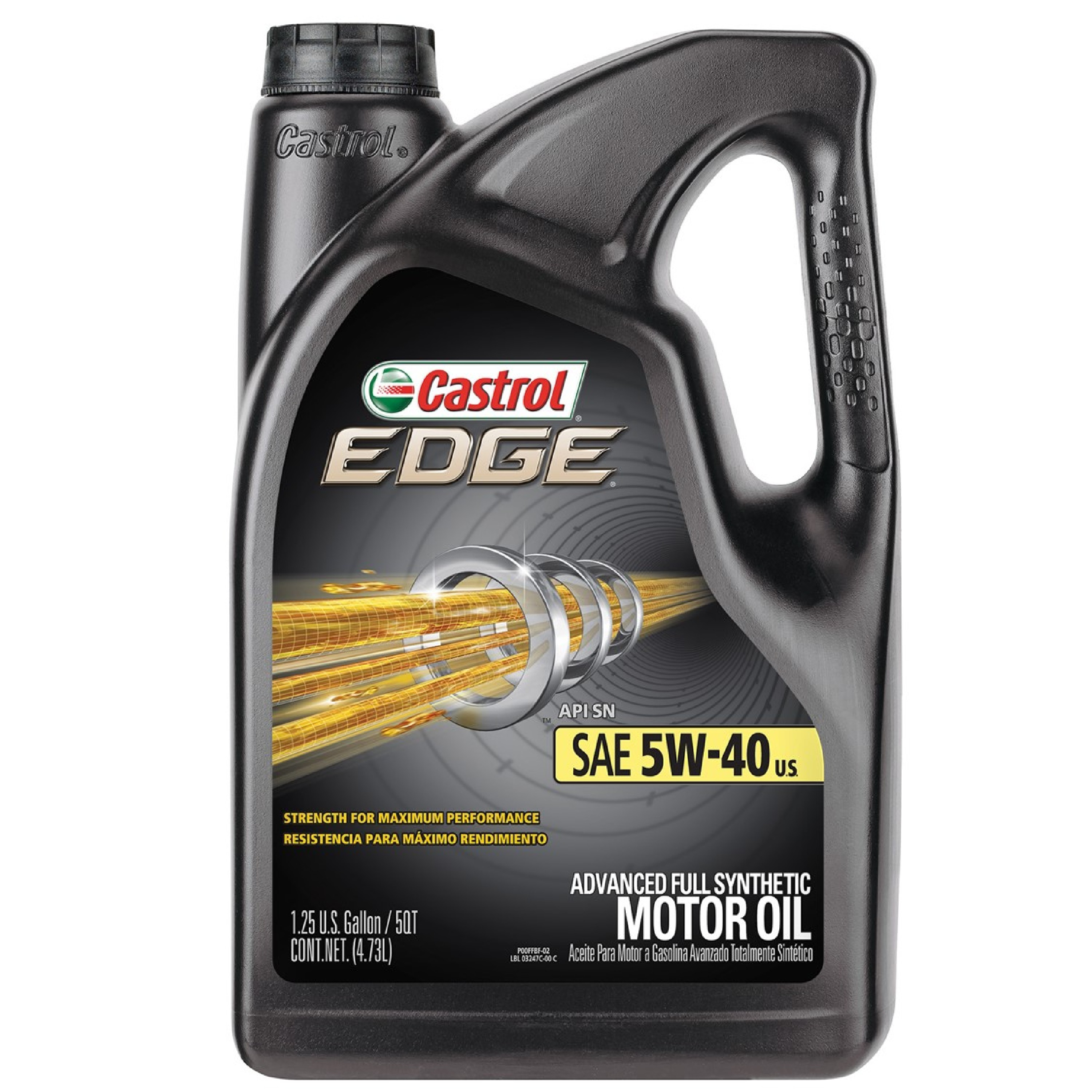 Castrol EDGE 5W-40 Full Synthetic Motor Oil, 5 QT by Castrol