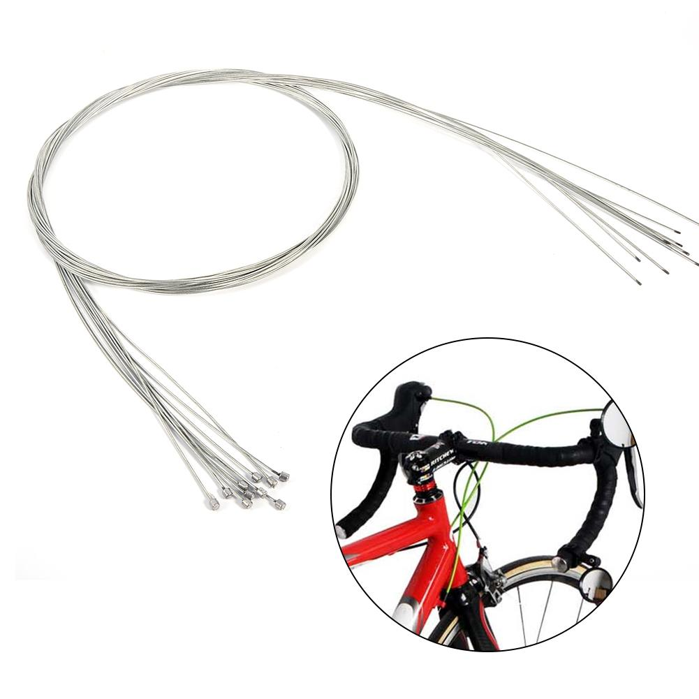 TOPINCN 10pcs Stainless Steel Bike Derailleur Cable Road Shift Cable Inner Shift Cable For Bicycle,Bike Cable Wire