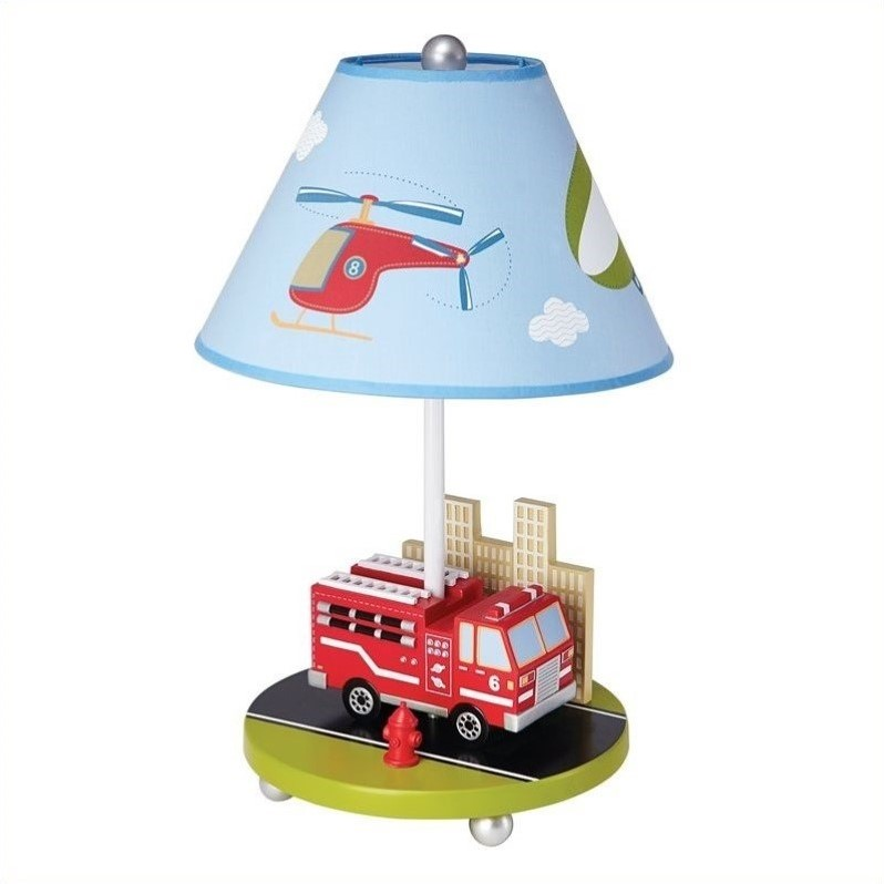 Guidecraft Moving All Around Table Lamp, Blue