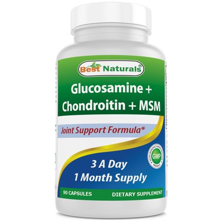 Best Naturals Glucosamine Chondroitin and MSM Joint Pain Relief Supplement, 90
