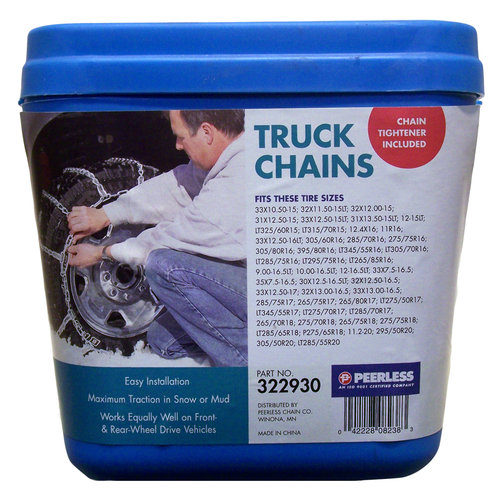Peerless Truck Tire Chains with Rubber Tighteners, #322930 by Peerless