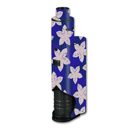 Skin Decal Vinyl Wrap For Kanger Dripbox Vape Mod Box / Flowered Blue