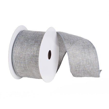 2 gray with gold and silver mesh solid wired craft ribbon 2 5 x 10 yards walmart