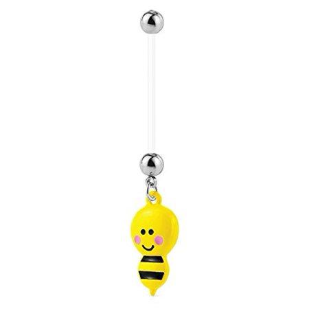 Bodyj4you Pregnancy Belly Ring Bee 14g Maternity Flexible Bar
