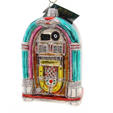 Old World Christmas JIVIN' JUKEBOX Glass Ornament Rock And Roll 38046