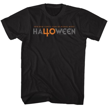 Halloween Scary Horror Slasher Movie Film 40 Years Ha40ween Adult T-Shirt Tee](Scary Family Films Halloween)