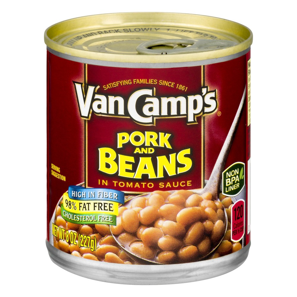 Van Camp's Pork And Beans In Tomato Sauce, 8 Oz