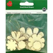 Assorted Wood Shapes-Flowers 10/Pkg