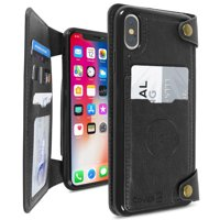 "CoverON Apple iPhone XS Max (6.5"") / 10S Max Wallet Case Credit Card Holder Magnetic Car Mount Compatible Detachable Wallet Phone Cover"