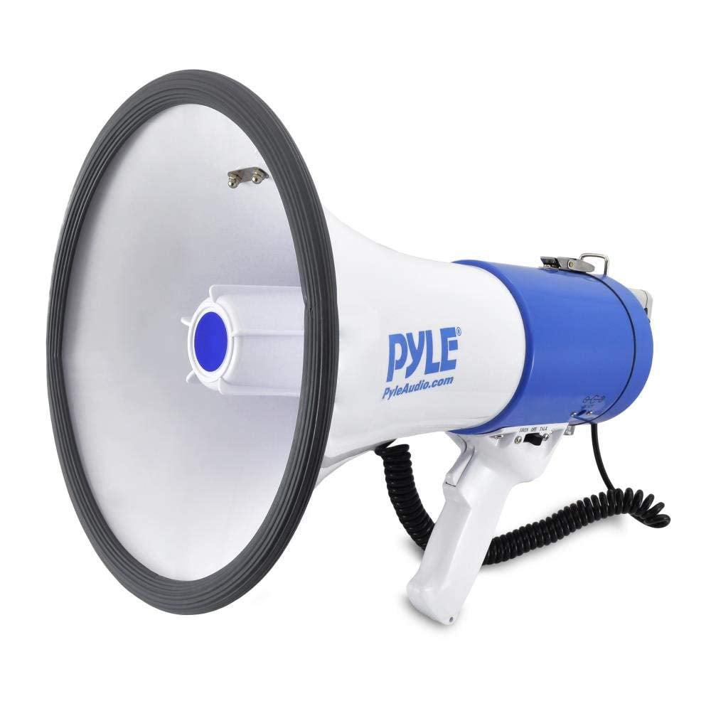PYLE PMP50 Megaphone Speaker - PA Bullhorn with Siren Alarm Mode & Adjustable Volume Control