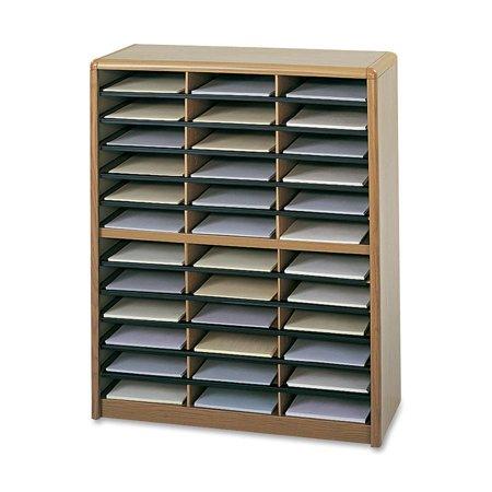 Safco, SAF7121MO, Value Sorter Literature Organizer, 1 Each, Medium Oak