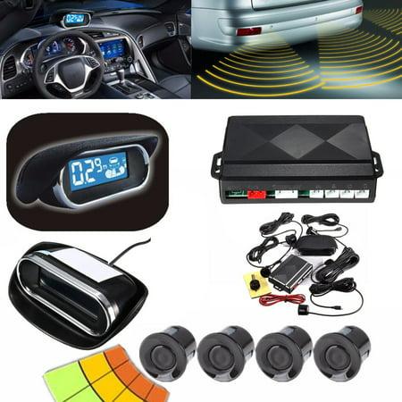 M.way Car Rear Reverse Parking Sensor System with LED Display Car Reverse View Backup Radar Detector & 4 Parking