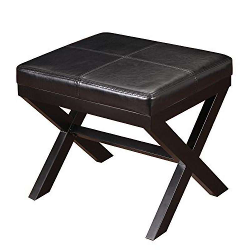 Adeco Trading Contrast Stitch Ottoman