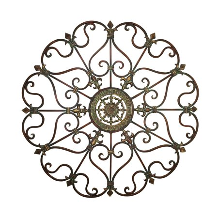 Decmode Traditional 29 Inch Ornate Bronze Metal Wall (Metal Bronze)