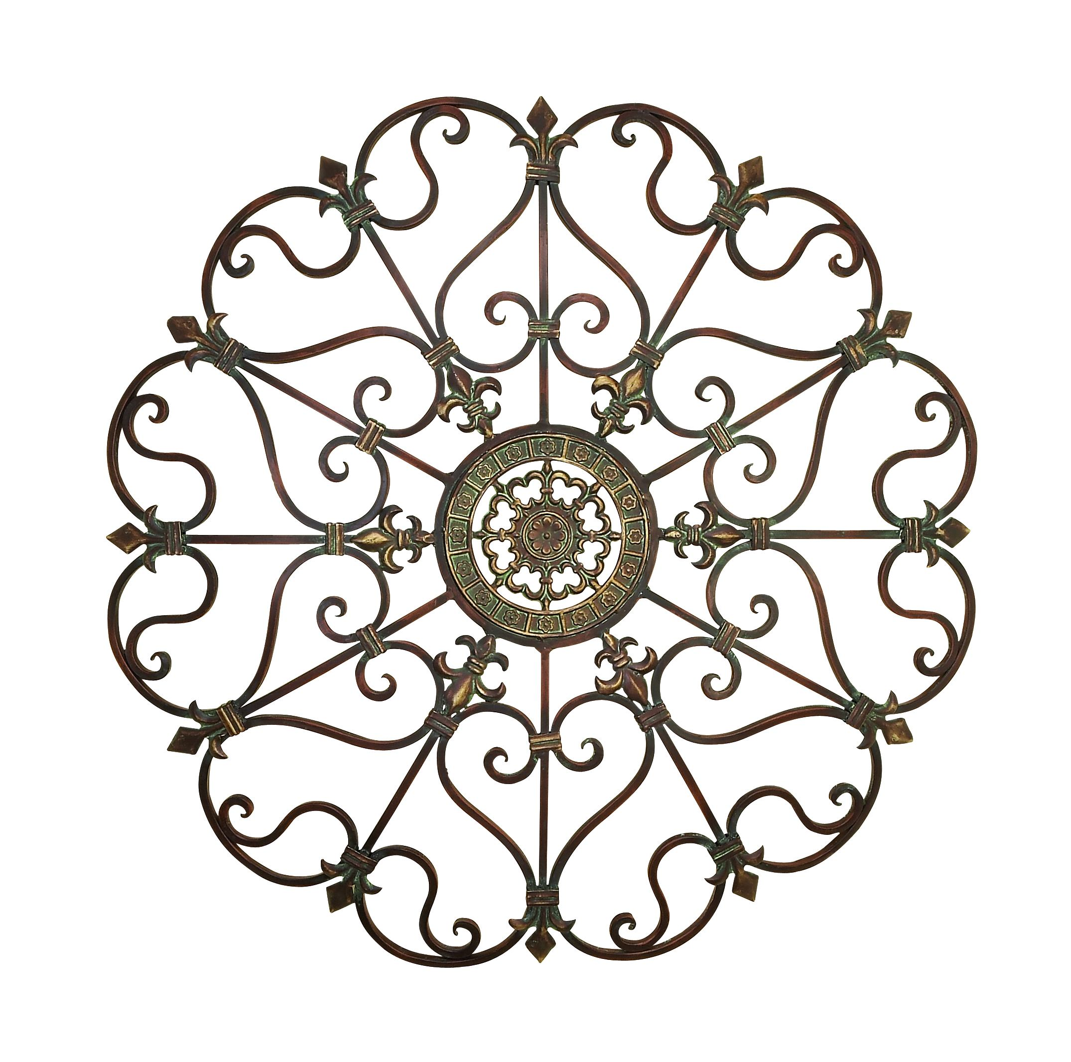 Decmode Traditional 29 Inch Ornate Bronze Metal Wall Decor