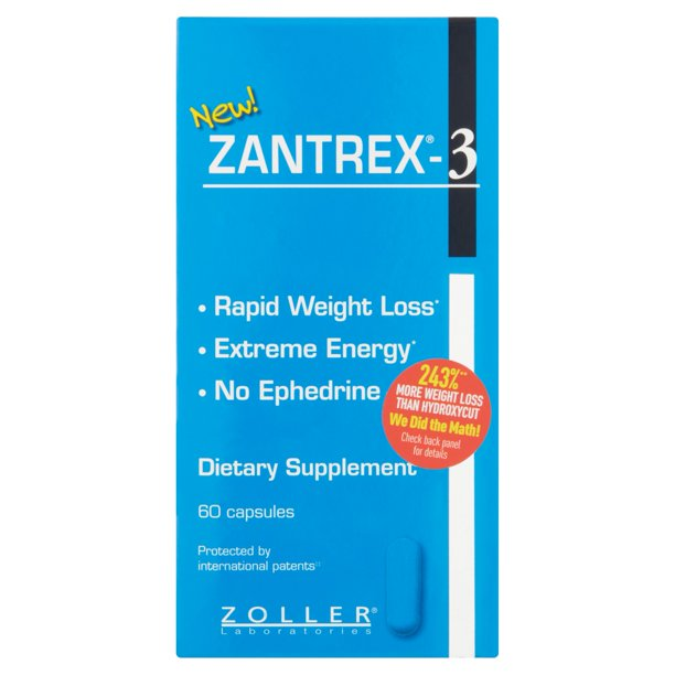 Zantrex-3 Rapid Weight Loss & Energy Supplement, 60 Capsules