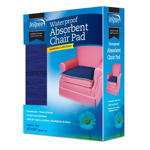 Inspire Waterproof Absorbent Chair Pad, 18 Inches X 24 Inches
