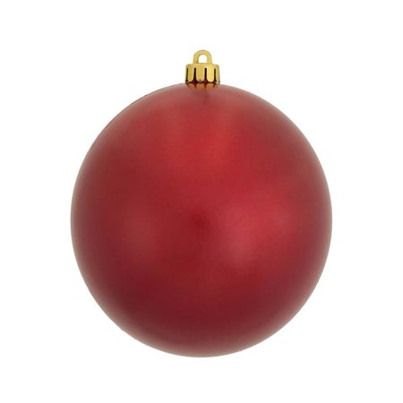 Vickerman N591203DCV 4.75 in. Red Candy Ball Christmas Ornament - 4 Per Bag - image 1 de 1